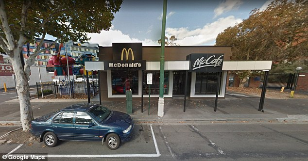 Dave and Melanie were in the McDonalds in Bendigo when Dave spotted the pensioner